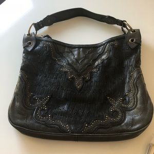 Isabella Fiore Black Leather Handbag (2004)